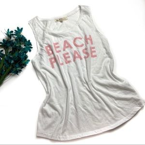 Graphic Tank Muscle  Top